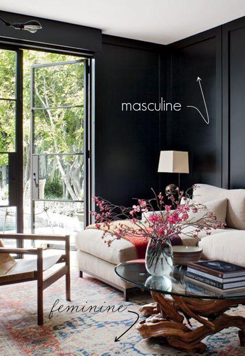 Boho Living Room With Fireplace