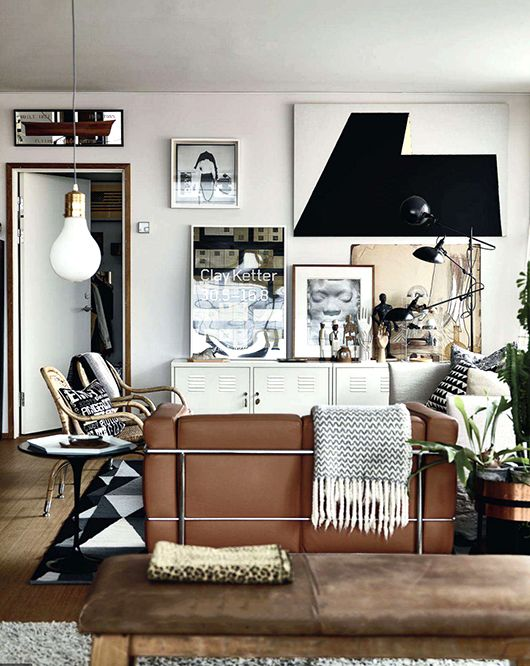 Sala De Estar Sofa Marrom ~ de sala sofa marrom25 ideias para decoração com sofá marrom