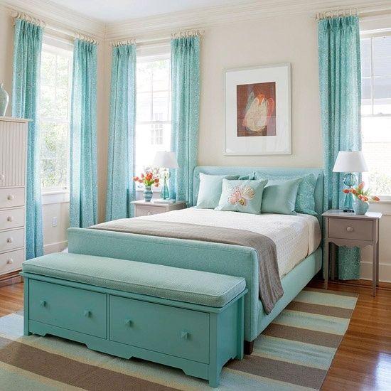 Cortina azul Tiffany
