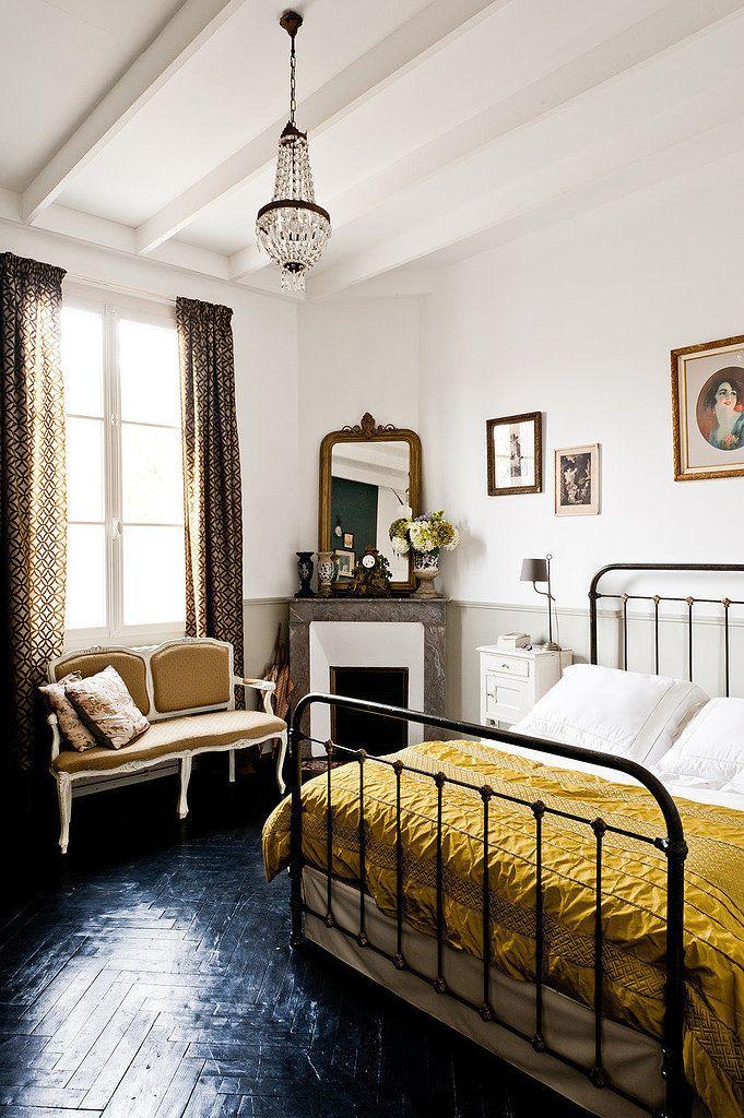 Cortinas estampadas para quarto de casal