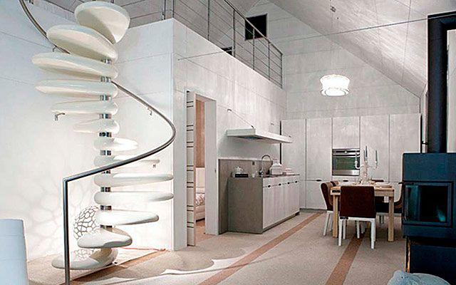 Escada caracol moderna