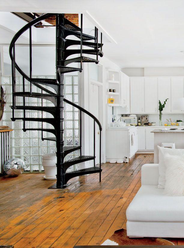 Escada caracol 14 lindos modelos para se inspirar for Gradas interiores