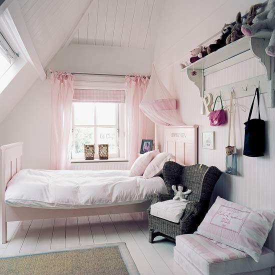 Cortina rosa para quarto de menina