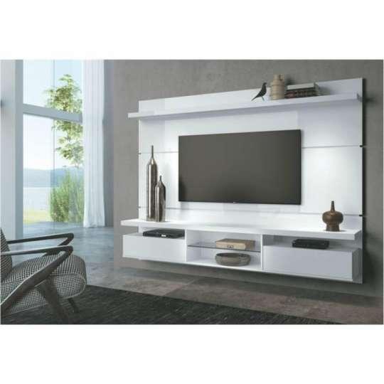 Sala Pequena Com Rack Branco ~ Rack com Painel para TV  Dicas para escolher a seu
