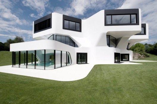 Casa bonita, moderna e futurista
