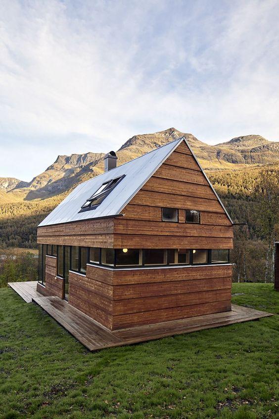casa bonita de madeira