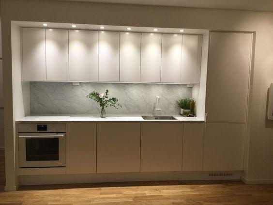 Cozinha com iluminação