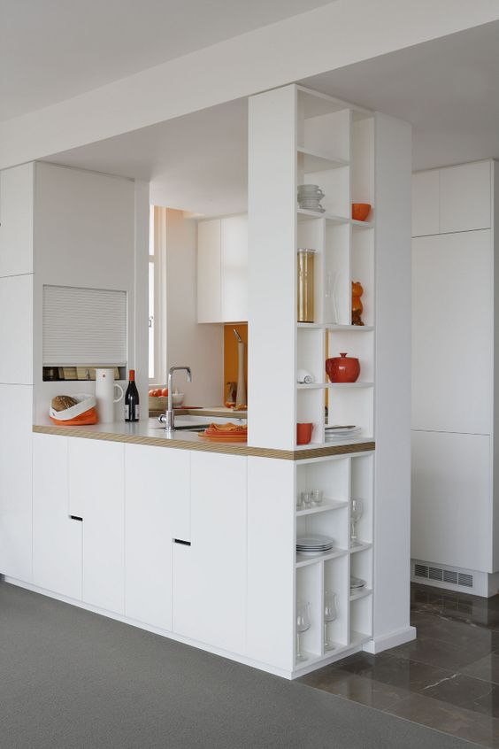Cozinha Branca Pequena - aproveitamento dos espaços