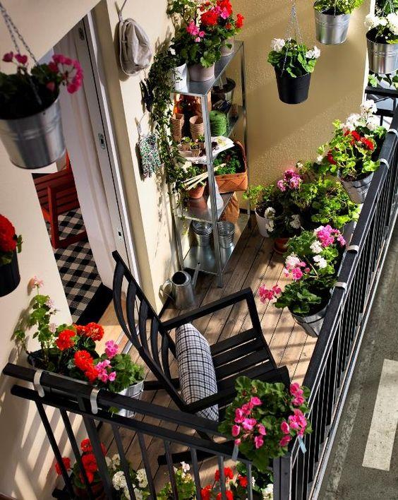 horta jardim na varanda:Horta em apartamento – Saiba tudo, como fazer, o que plantar