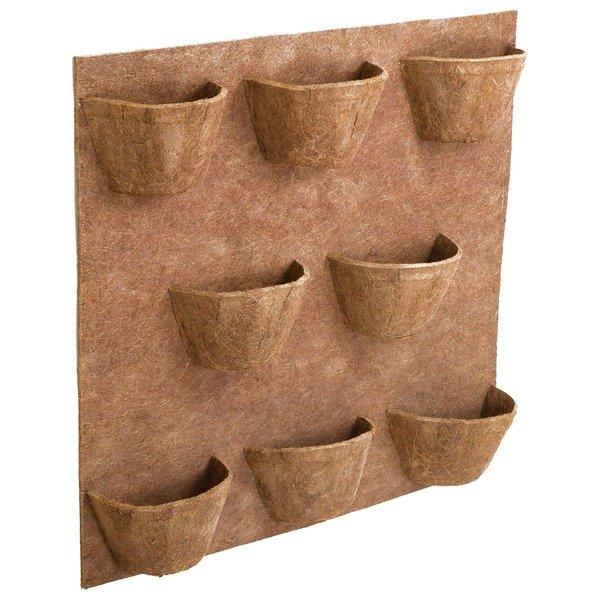 painel de fibra de coco para horta vertical