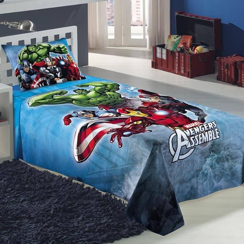 Jogo de Cama Infantil Vingadores Avengers - Lepper - AixCasa