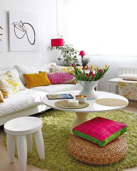 Tapetes para sala 26 ideias para voc decorar a sua - Colores para un salon pequeno ...