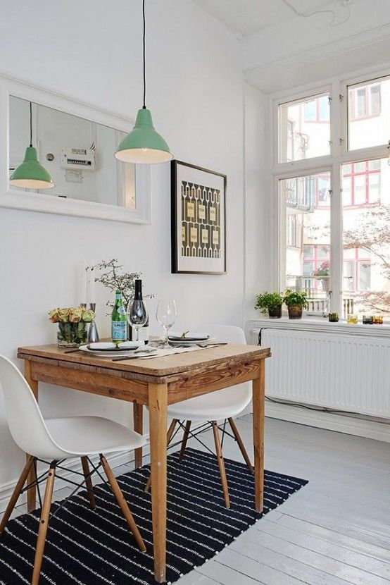 sala de jantar pequena decorada - Mesas De Comedor Pequeas