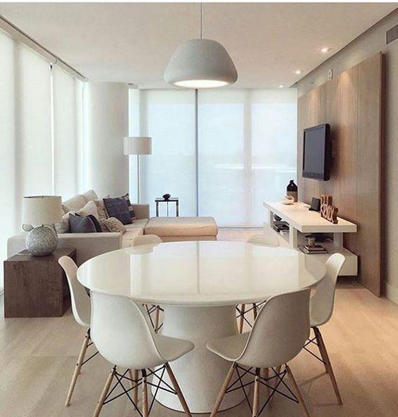 Sala de jantar pequena deixe a sua bonita e moderna - Mesas redondas modernas ...