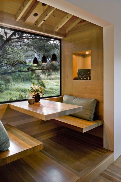 Sala de jantar moderna e pequena