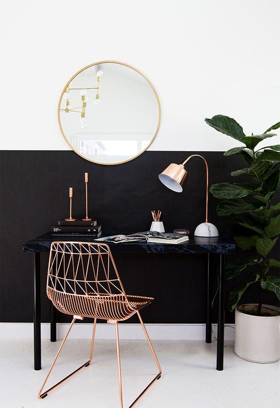 Escrivaninha em cobre