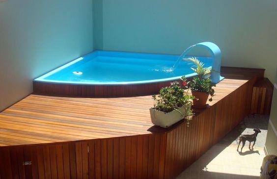 Fotos de piscinas inspire se para ter a sua viver em casa for Piscinas modernas pequenas
