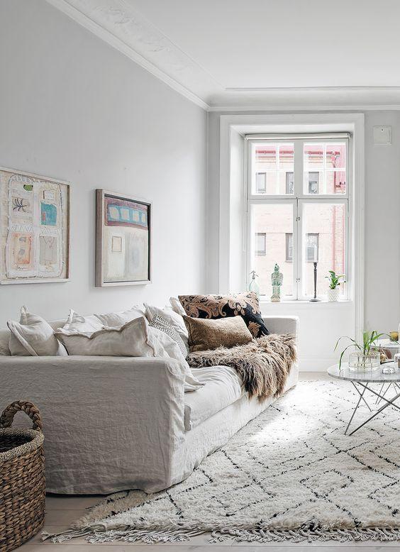 Almofadas para sofá para compor estilo escandinavo