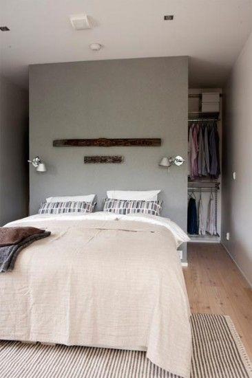 Modelos de closet atrás da cama