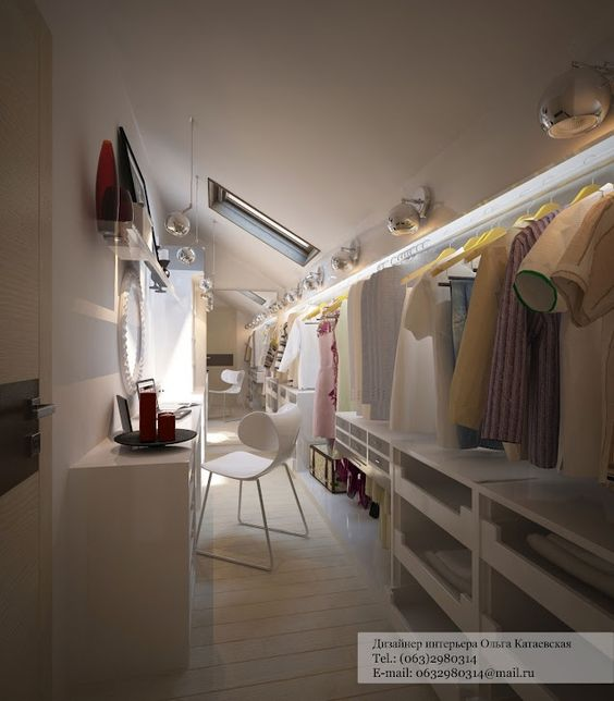 Modelos de closet no sótão