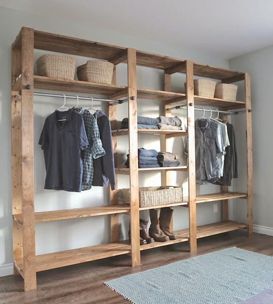 Modelos de Closet com armário simples
