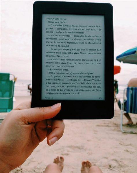 leitor de livro digital, a versatilidade de levar para todos os lugares