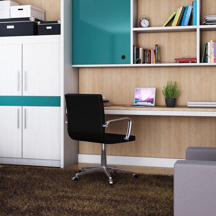 Escritório em casa, escritório moderno, escritório simples