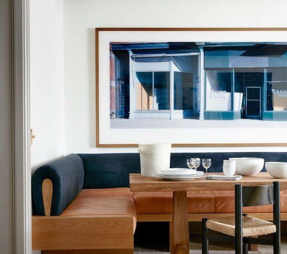 Banco moderno para sala de jantar